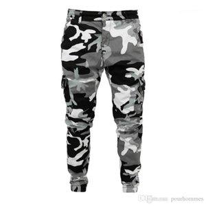 Mens Calças Lápis Casual Mens Camuflagem Mens Designer Jeans Moda Mulit Pockets Zipper Skinny