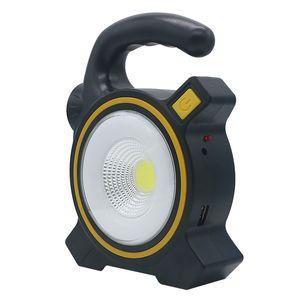 El Taşınabilir Fener Çadır Işık USB Şarj edilebilir COB LED el feneri Güneş 3 mod Acil Çalışma muayene lambası