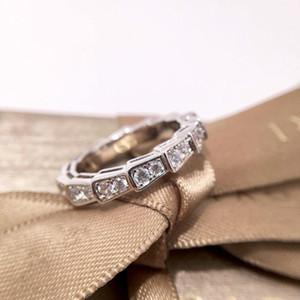 여성 쥬얼리 여성은 다이아몬드 뱀 링 1의 전체 골드 도금 백금 6 \ 7 \ 8야드 단일 행 반지