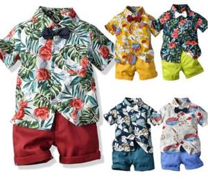 20 style de bébé vêtements garçons Summer Style enfants Vêtements Tops Shorts Ensembles Garçons ceinture Filles T Pantalons Sport Costume enfants Vêtements DHL