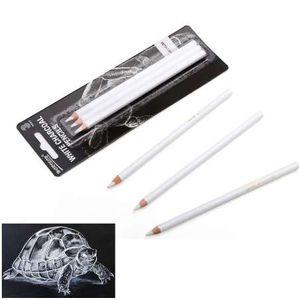 Sanat Malzemeleri 3 Adet Beyaz vurgulamak fırça Kroki Kömür Kalemler Standart Kalem Çizim Kalemler Okul Aracı Boyama Için Set
