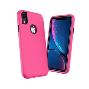 For iphone 6 7 8 9 Plus XS Max XR 3in1 Shockproof Hybrid TPU With PC Armor Back Cover Case Pouch