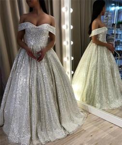 Vestito da sera con paillettes argento Dubai Arabo nero nero da bambina A Line Country Garden Abiti da sera da sposa formale Custom Made Plus Size