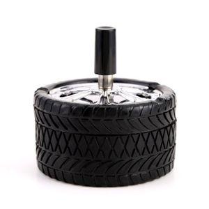 Nuevo tipo de originalidad Prensa neumáticos Cenicero Cenicero sin humo cortavientos Rotar circular de acero inoxidable Taza del humo de la venta caliente 8 8hya H1