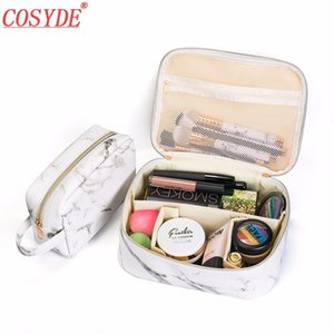 Hot Fashion Marble Make Up Bag Women Portable Tote Toiletry Zipper Tool Pouch Travel Beauty Cosmetic Bags Case Wash UP Pouch
