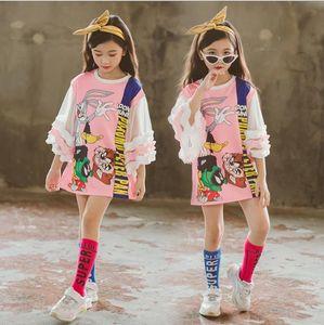 5-12Y Детские платья для девочек 2019 летние девушки повседневная марля без плеч с короткими рукавами платье для девочек вечерняя одежда