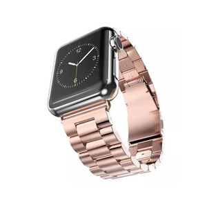 Tschick Bands For Apple Watch Series 4 44 40mm, Series 3 2 1 42 38mm, Heavy Stainless Steel Metal Link Bracelet Wristbands Strap
