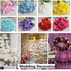 99pcs / lot luxe fleur de soie artificielle Hortensia Incroyable coloré fleur décorative pour la fête de mariage anniversaire décoration de la maison C18112601