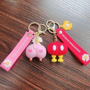 Cartoon Totoro Keychains BuKeychain Women Kids Charm Phone Bags key chain Car Key Ring Pattern Holder for GirlFriend Gift