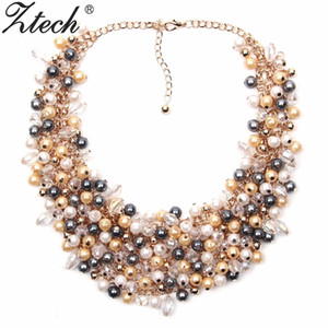 Ztech Jewelry European & American Big Temperament Popular Trendy Palace Beauty simulated pearl Necklace Statement necklace V191128