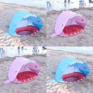 어린이 텐트 어린이 샌디 비치 게임 집 천막 어린이 야외 양산 물 놀이 접는 공 뜨거운 판매 58qs L1