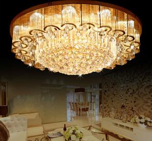 YENI Lüks Büyük Kristal Tavan Işıkları Lambaları Ile LED Cips Fuaye Otel Mühendislik Aydınlatma Için Dairesel Çiçek Lambalar LLFA