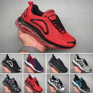 Nike air max 720 Kid shoes Ultra Running Shoes crianças grandes Meninos e meninas Black White Air moda Huraches Sports Sneakers Trainers Athletic Shoes A035