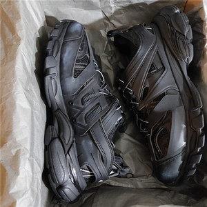 Pista Trainers Sneakers Tess S Gomma Trek Baixo Homens Mulheres Sneakers Triple S Clunky Sports Shoes Casual com saco de poeira