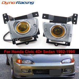 Phares anti-brouillard Phares antibrouillard Pour 1992-1995 Honda Civic Berline 4D Driving Driving Kit de lampe commutateur