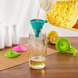 accessori per la cucina della casa della cucina Mini commestibile silicone pieghevole telescopica Funnel 2019 nuovo arrivo trasporto di goccia