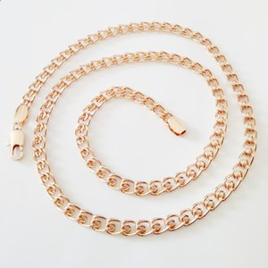 Men Necklace 2020 New Trendy Rose 585 Gold Color Jewelry 60CM Long Necklace Designs for Man Birthday Gift
