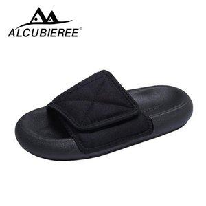 Tirón zapatillas Pareja lona de la playa del deslizador Pareja ajustable Zapatillas pies de ancho ALCUBIEREE de los hombres de los fracasos de los calzados informales
