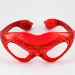 Fun luminous bright flash mask glasses led spider-man glasses party decoration colorful luminous toys children
