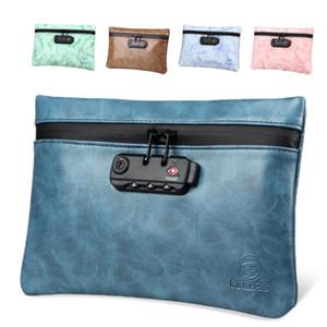 Sac sans odeurs avec verrouillage Déodorant cosmétique Sac Odeur Odeur Sacs étanche à l'eau Container Valise de rangement