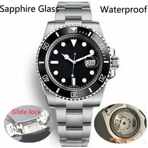 글라이드 잠금 물 증거 럭셔리 세라믹 사파이어 남성 2813 기계 자동 운동 패션 시계 남성 디자이너 시계 손목 시계