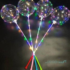 Noel Düğün Doğum Ana Parti Dekorasyonu için Çubuk Kol Kontrol Dalga Topu 3M Dize Balonlar Yanıp sönen Işık Up ile Bobo topu LED Hattı