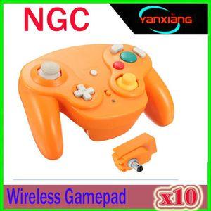 2.4G Sem Fio Controlador de Jogo Gamepad Joypad + Receptor para Nintend GameCube NGC Wii Controlador de Jogo Gamepad Joystick 10 pcs ZY-NGC-1