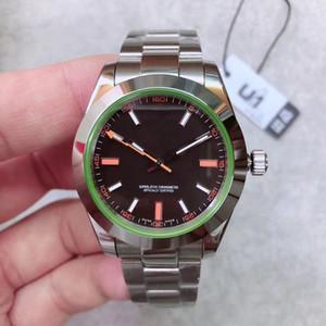 2020 핫 판매 U1 공장 새로운 남성 시계 사파이어 유리 스테인레스 스틸 자동 스윕 운동 기계 남성 시계 남성 손목 시계