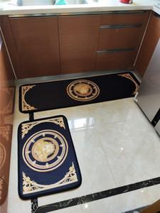 Wilde Durable Mats Badezimmer Küche zweiteiliger Satz Teppiche Innenrutschhemmende absorbieren Wasser Mute Balkon Badematten Kostenloser Versand