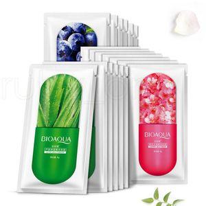 200pcs Masque facial feuille gelée profonde moisturing Hydratante Masque Prévenir Blueberry Sakula feuille masque de sommeil