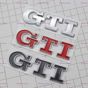Logo 3D GTI Emblem Decal Trunk Autocollant pour VW Volkswagen Jetta Polo Golf 6 7