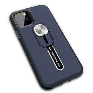 Robusto Armadura Stand Case telefone híbrido com o dedo portátil Anel Para iphone 12 pro 7 8 mais 11 pro Max Samsung Nota 10 S10 Além disso S10E A70 A50