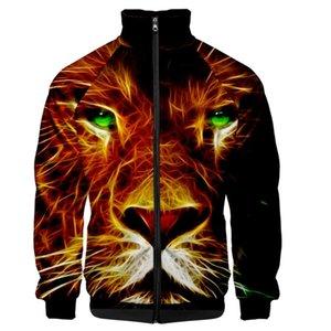 Stand-pescoço WAMNI Tiger Zipper Moletons 3D Jacket Único Casual Harajuku novidade Zipper Casacos Hip Hop