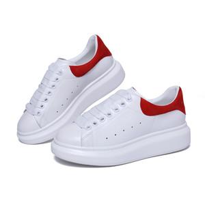2018 zapatos de diseño para incrementar la estatura blanco negro hombres de las mujeres zapatillas de deporte de los zapatos ocasionales de los colores sólidos de las zapatillas de deporte para mujer de los hombres vestido Shoeize 35-44