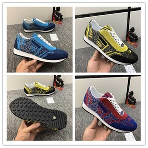 Early spring new casual men's shoes Italy imported breathable knitted fabric delicate texture super soft and comfortable
