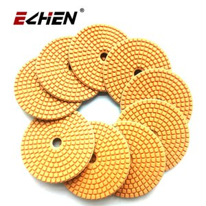 5 Pcs  lot Diamond Wet Polishing Pads For Marble Granite Concrete Tools Angle GrinderDiameter 100mm 4 Inch