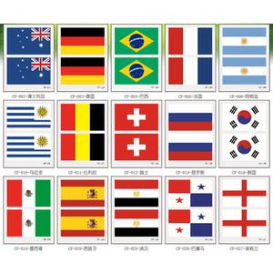 40 Paesi Style fronte della bandierina Adesivi Calcio Bandiera autoadesivo del tatuaggio della squadra monouso Adesivo autoadesivo provvisorio XD23563
