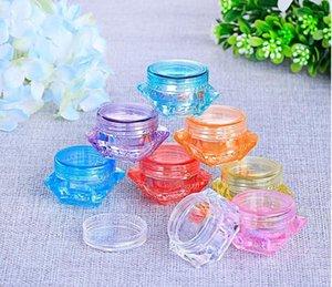 2g Diamond Shape Plastic Facil Cream Jar, DIY Annix Colored Cosmetic Cream Container, Lip Balm Storage Box SN13