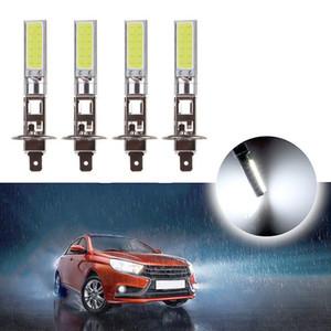 New Arrival 4Pcs H1 COB LED Car Headlight Driving Light Lamp Bulb White 6000K Automobile Super Bright Auto Car Lighting HeadLamp