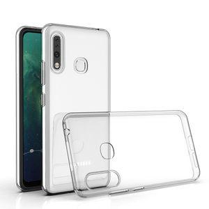 Ultra Slim delgada suave claro TPU del teléfono la cubierta del caso para la galaxia A70e A11 A41 A01 A51 A71 A10S A20S A20e
