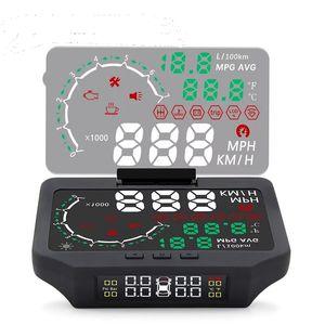 HUD TPMS cabeça-up display Universal OBD2 HUD carro exibição cabeças up display pneu de carro sensor de pressão projetor eletrônica do carro