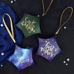 Star Candy Box Свадебные сувениры Подарочные сумки с ручками Сладкие Stars Форма коробки конфет Baby Shower партии Подарочные коробки