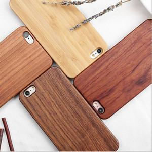 Luxus Gravieren Wood Cover Natur geschnitzte hölzerne Bambus-Telefon-Kasten für Iphone 11 X XS Max XR 8 6s 7 Plus-Samsung S7 S8 S9 S10 lite Hinweis 9 8