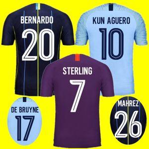 With Patches Best quality S-2XL 2018 2019 soccer jersey MAHREZ 18 19 football shirt BERNARDO MENDY WALKER SILVA SANE