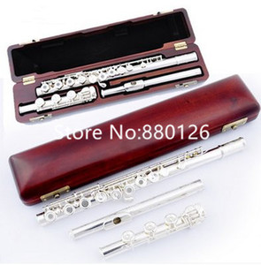 Hot Selling MARGEWATE Brand Sliver Flute 17 Open Hole C Tune E key Musical instrument Professional with Case Free Shipping