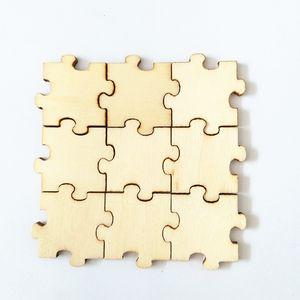 Bitmemiş Lazer Kesim Ahşap Yapboz adet Blank Tek Sonsuz Ahşap Puzzle Çocuk Yapboz Misafir Defteri Sanat ve El Sanatları Bulmaca