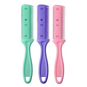 Razor pelo peine mango de la maquinilla de corte de pelo peine de reducción de bricolaje Home recortadora con la cuchilla de corte de pelo trimmin Salon LJJP16