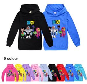 9 Cor Titãs GO! meninos e meninas crianças camisola com capuz mangas longas do hoodie Top Coats bebê crianças roupas