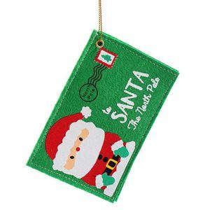 10Pcs Christmas Envelope Candy Bag Invitation Envelope Santa Claus Tree Ornament Gift Bag Christmas Santa Sack Party Decor