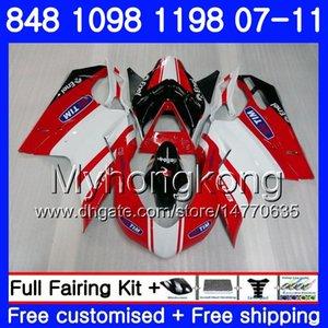 Corpo per DUCATI 848R 1098R 1198R 848 1098 1198 vendita calda rosso 07 08 09 10 11 324HM.11 1098S 848S S R 1198S 2007 2008 2009 2010 2011 Carena